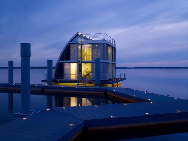 Модерный плавающий домик от Steeltec37
