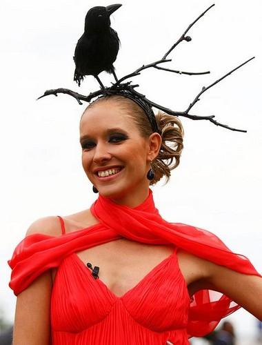 Шляпка-птица от Кати Осадчей