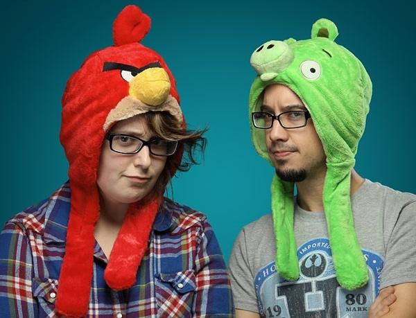 Шапки в стиле Angry Birds