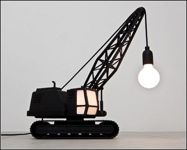 Лампа-бульдозер