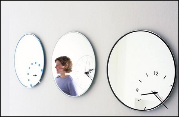 Зеркальные часы