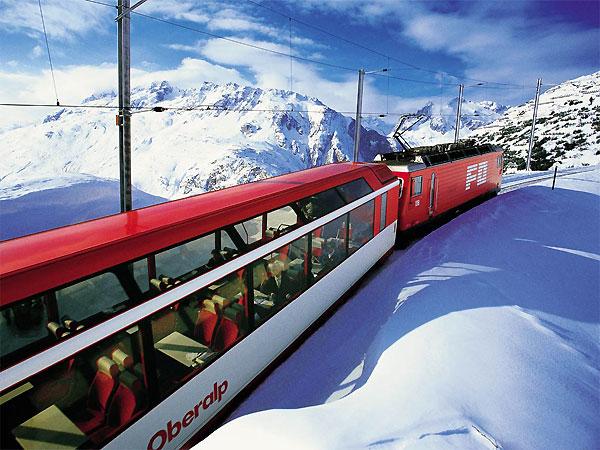 Glacier Express – медленный поезд для вдумчивых путешественников