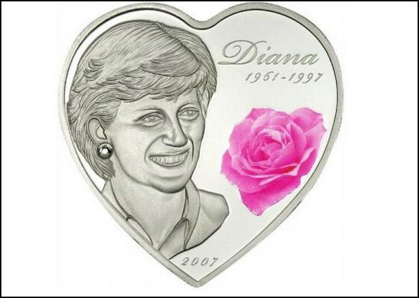 Монета с Принцессой Дианой
