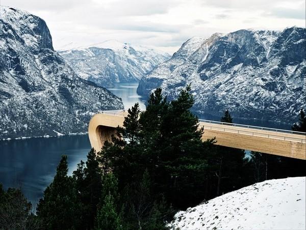 Смотровая площадка в Эурланн, Норвегия