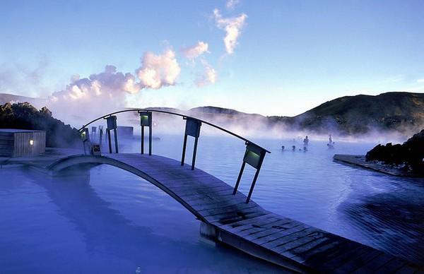 Ледники и гейзеры Голубой Лагуны в Исландии