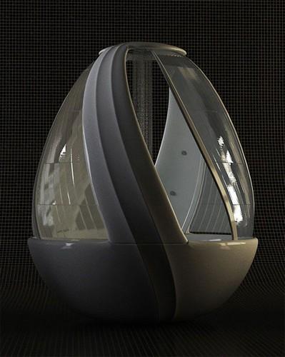 Душ в виде яйца