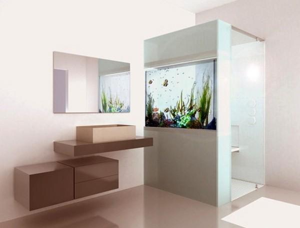 Душ от Cesana со встроенным аквариумом