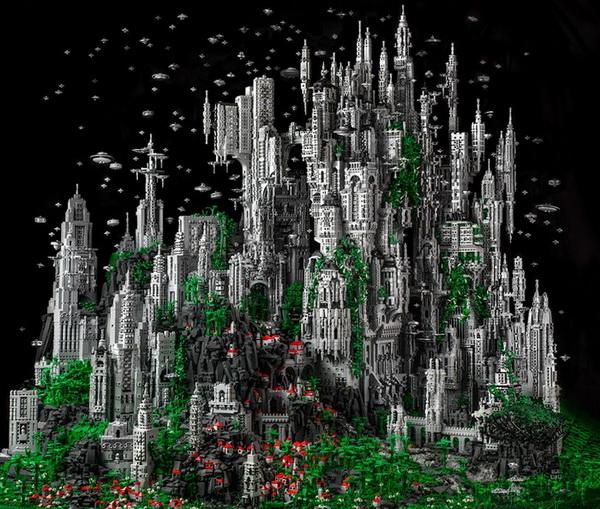 Contact 1 – город космической эпохи из LEGO от Майка Дойла (Mike Doyle)