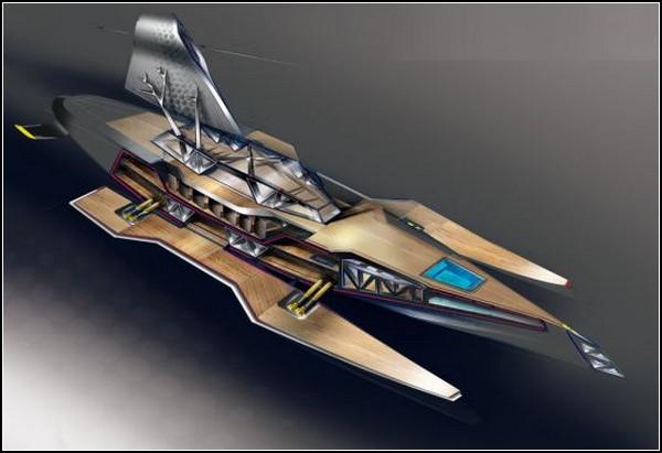 Яхта с террасами