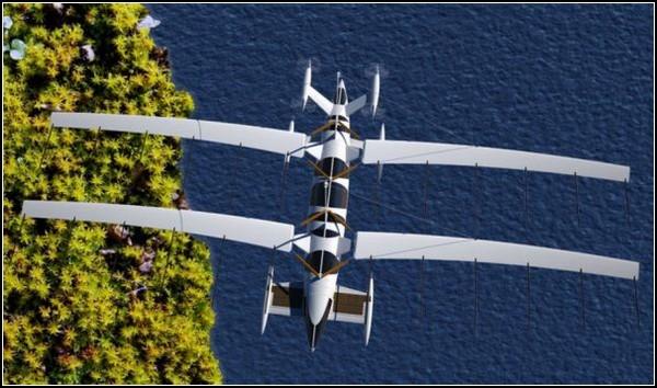Яхта, превращающаяся в самолет