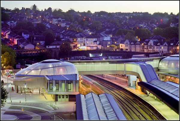 Вокзал-мост в Уэльсе