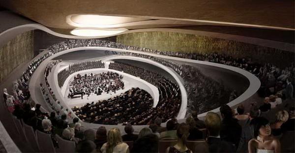 Компактный и огромный Sinfonia Varsovia Concert Hall