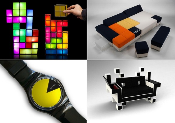 Дизайнерские решения на тему классических видеоигр
