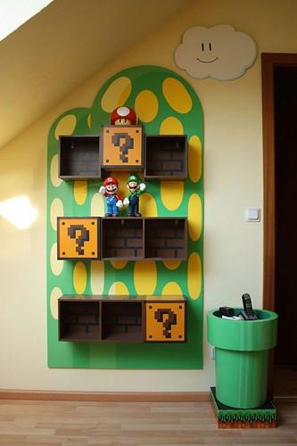 Шкаф в детскую в стиле братьев Марио