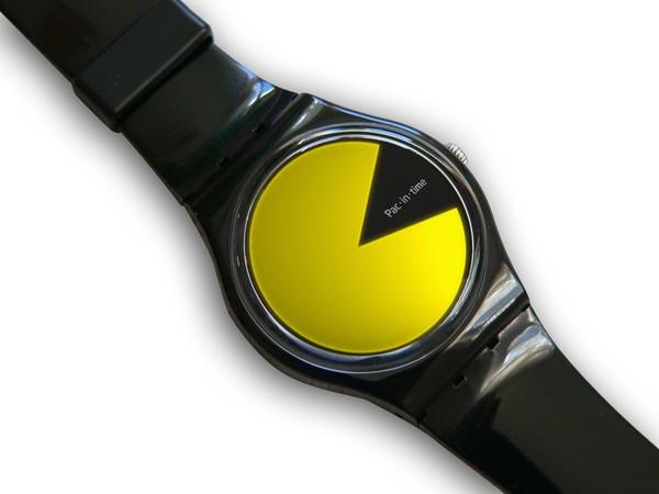 Часы в стиле Pac-Man