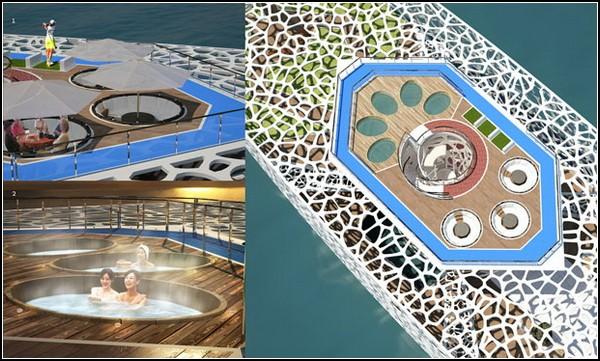 Яхта Voronoi yacht, вдохновленная диаграммой Вороного