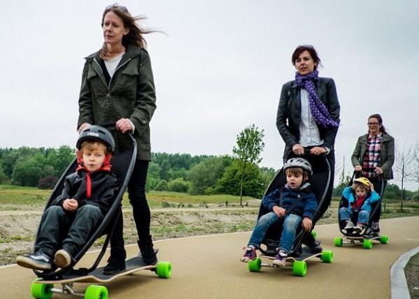 Longboardstroller – скейт для взрослых, совмещенный с детской коляской