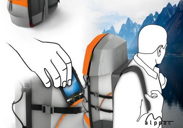 Alppac – рюкзак для туристов с мобильным телефоном