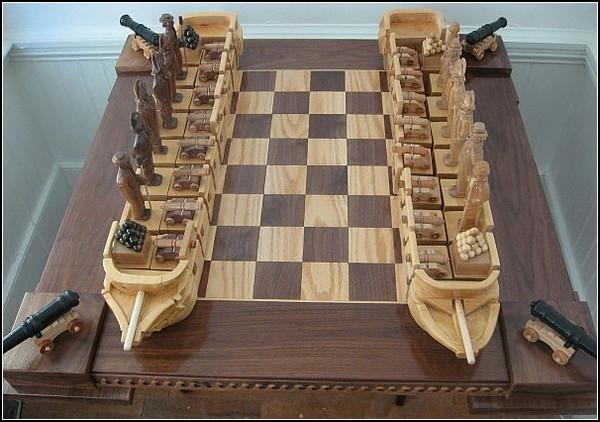 Морской бой на шахматной доске. Необычный шахматный набор от Джима Арнольда (Jim Arnold)