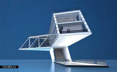 Дом с видом на землю