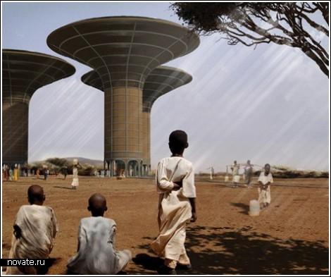 Водяные небоскребы в пустыне
