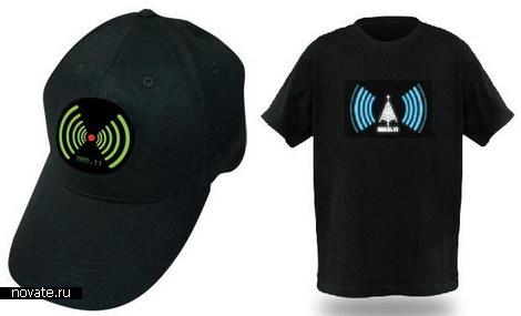 Футболка и кепка для поиска WiFi