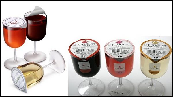 Одноразовые бокалы с вином