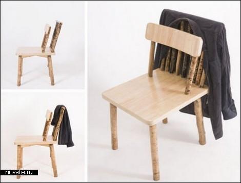 Деревянный стул для опрятных людей