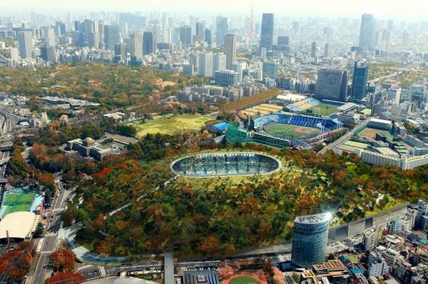 Национальный стадион Японии от Dorell.Ghotmeh.Tane и A+Architecture