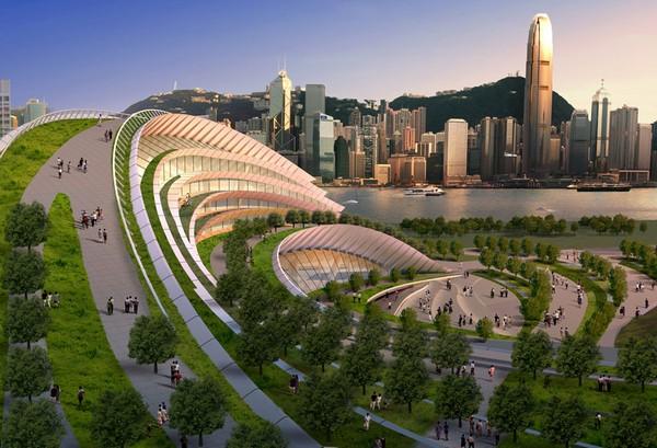 Железнодорожный вокзал Гонконга от Aedas