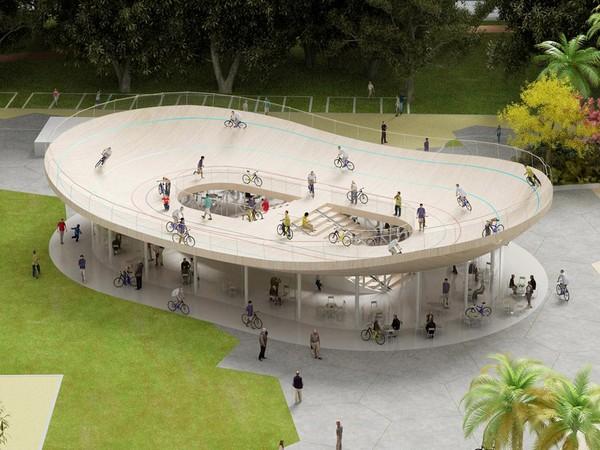 Велотрек с кафе от NL Architects