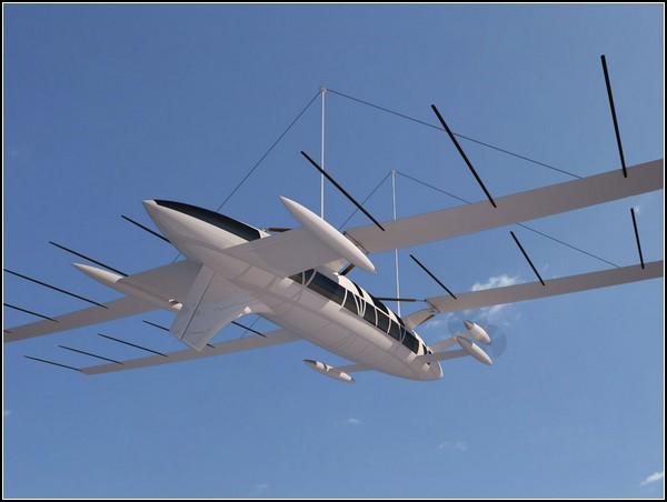 Яхта Octuri Wind Powered Yacht, которая может превратиться в самолет