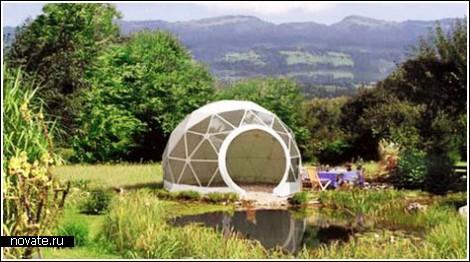 Геодезический купол: вариант для дачи