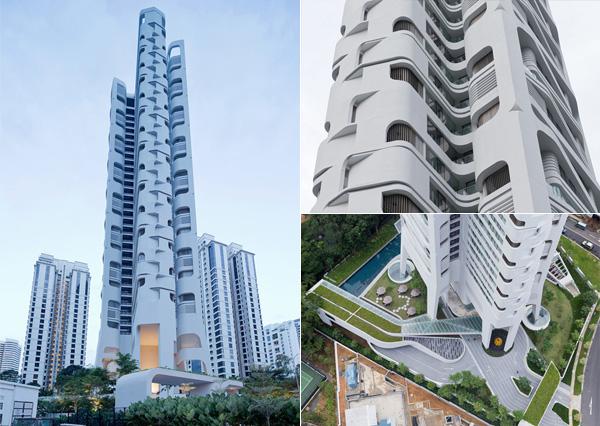 Ardmore Residence, сюрреалистичный жилой небоскреб в Сингапуре.