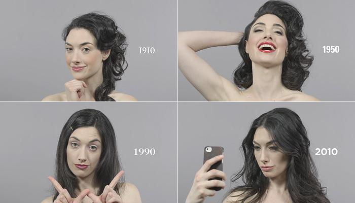 Женская красота за прошедшие 100 лет.