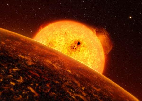 CoRoT-7b. Первая скалистая экзопланета.