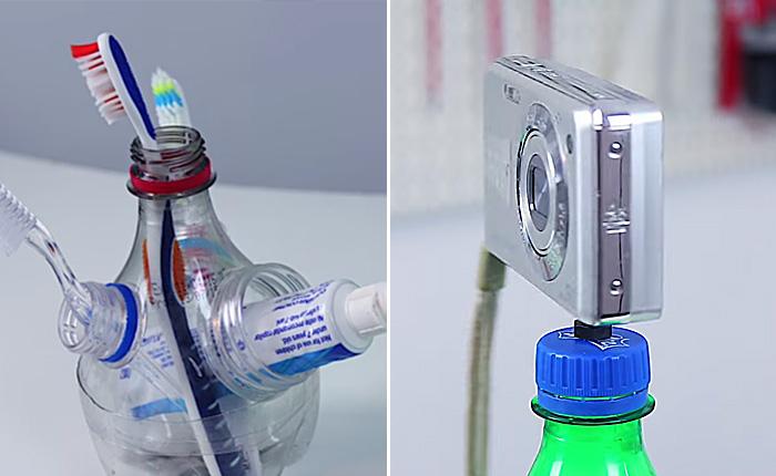 Какую пользу можно извлечь из пластиковых бутылок.