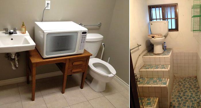 Самые нелепые способы обустройства туалетной комнаты.