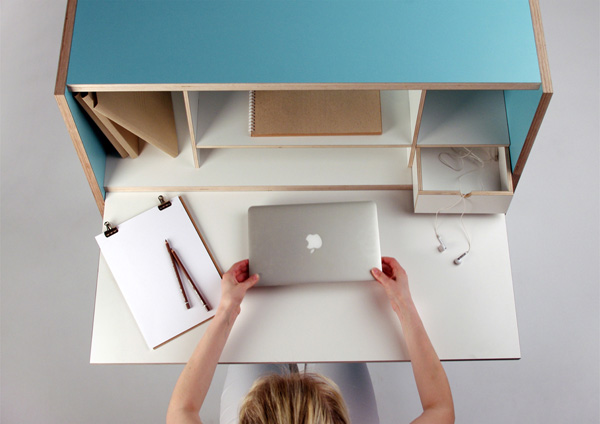 Эргономичное рабочее пространство от дизайнера Laura Petraityte.