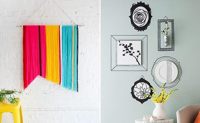 Простые и современные идеи для декора стен.