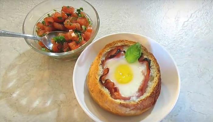 Оригинальный вкусный и быстрый завтрак.