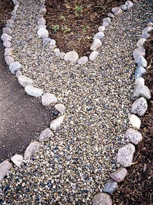 Дорожка из камней.