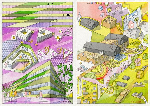 Архитектурные «комиксы» от Mikkel Frost.