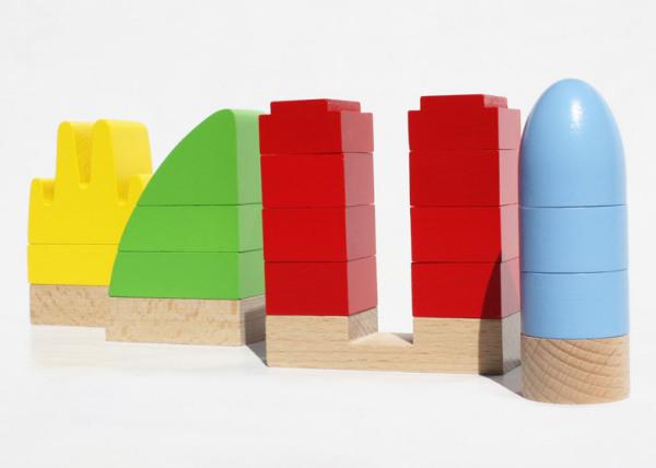 Набор деревянных игрушек Miciti (Мой город).