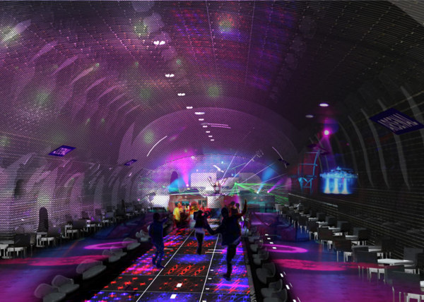 Проект ночного клуба на станции Arsenal в Париже.
