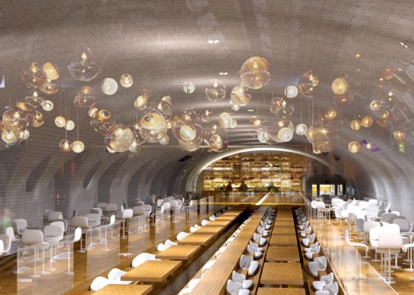 Ресторан на станции Arsenal в Париже.