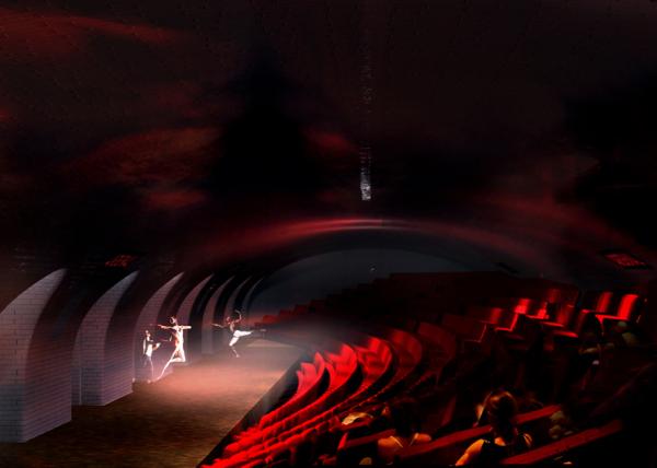 Концепт создания театра на станции метро во Франции.