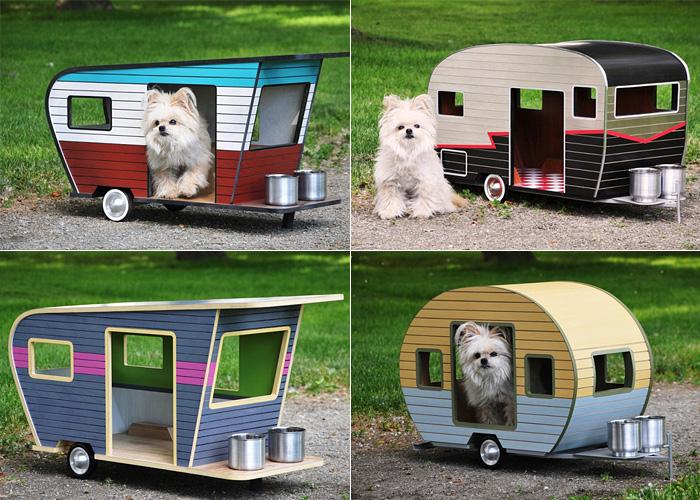 Серия будок-трейлеров для собак.