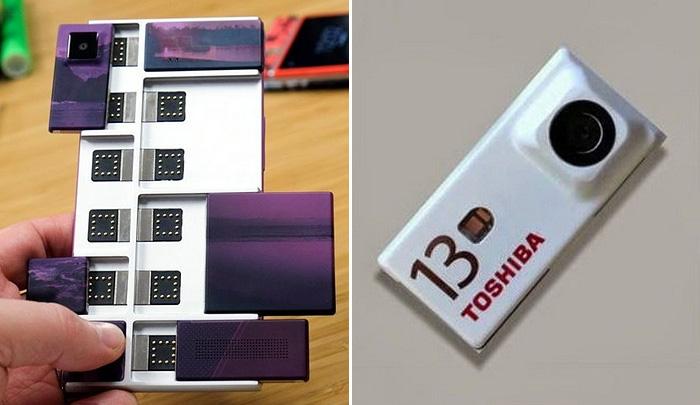 Toshiba представила съемные камеры для модульного смартфона Project Ara от Google.