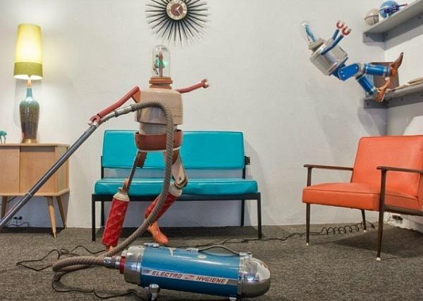 Фантазийный мир художника из Питтсбурга с участием роботов.